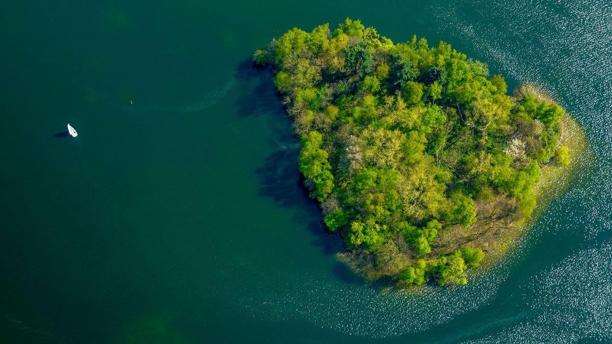 Insel Unterbacher See