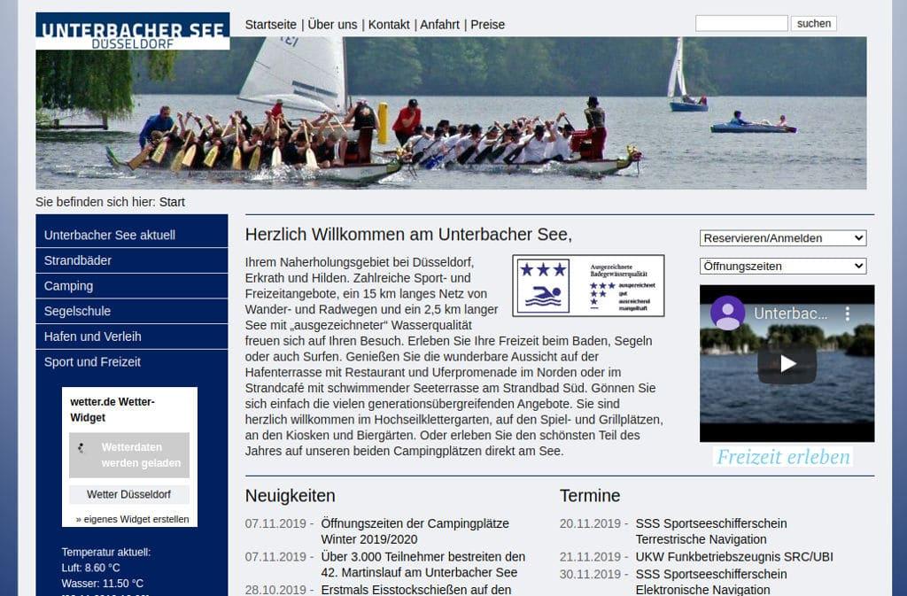 Unterbacher See Alte Webseite